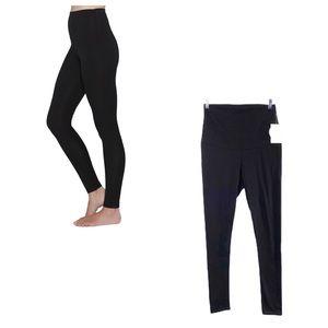 ANGEL black wide waistband leggings NWT